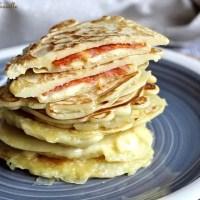 Pancakes fourrés au chorizo & emmental