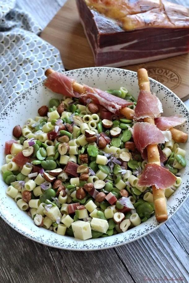 Salade de fèves au jambon de Bayonne
