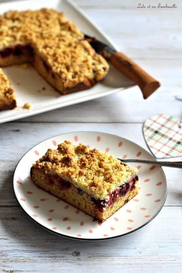Crumb cake aux fruits rouges
