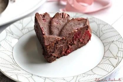 Gâteau ultra fondant chocolat & framboises (5)