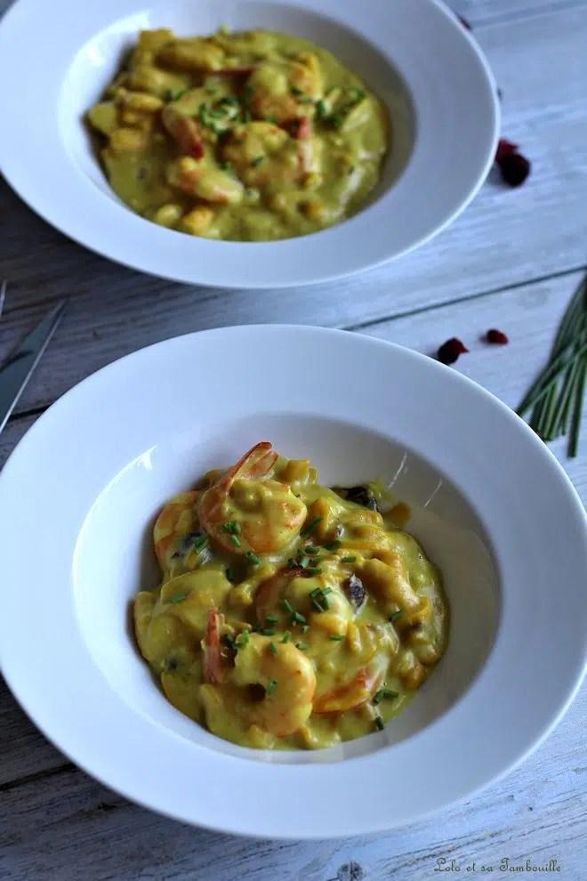 One pot pasta aux crevettes