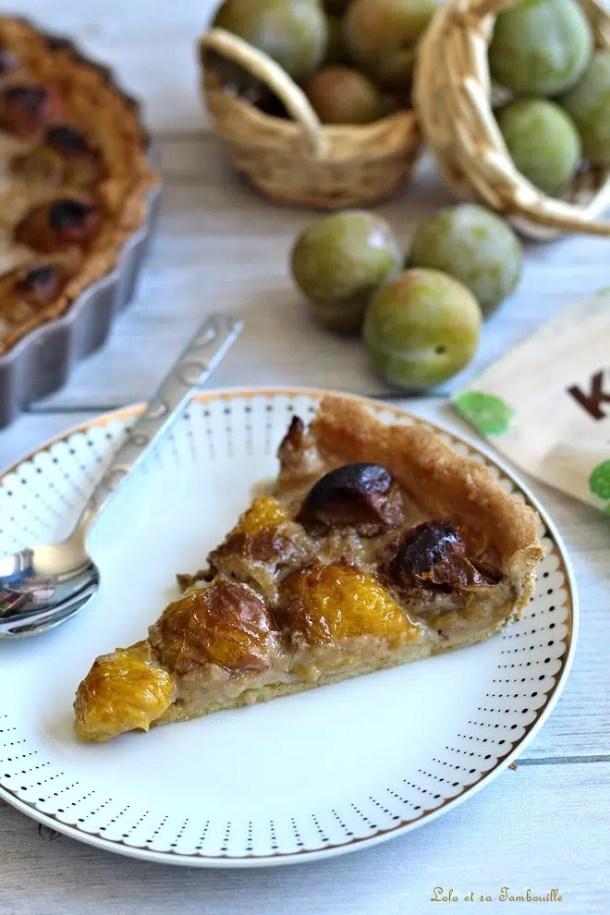 Tarte aux prunes & crème de noisettes