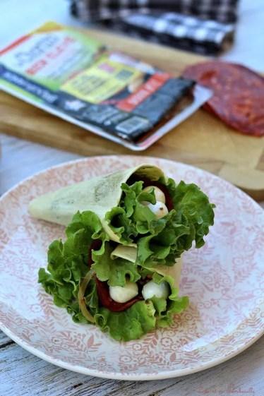 Wraps pocket chorizo & légumes grillés (2)