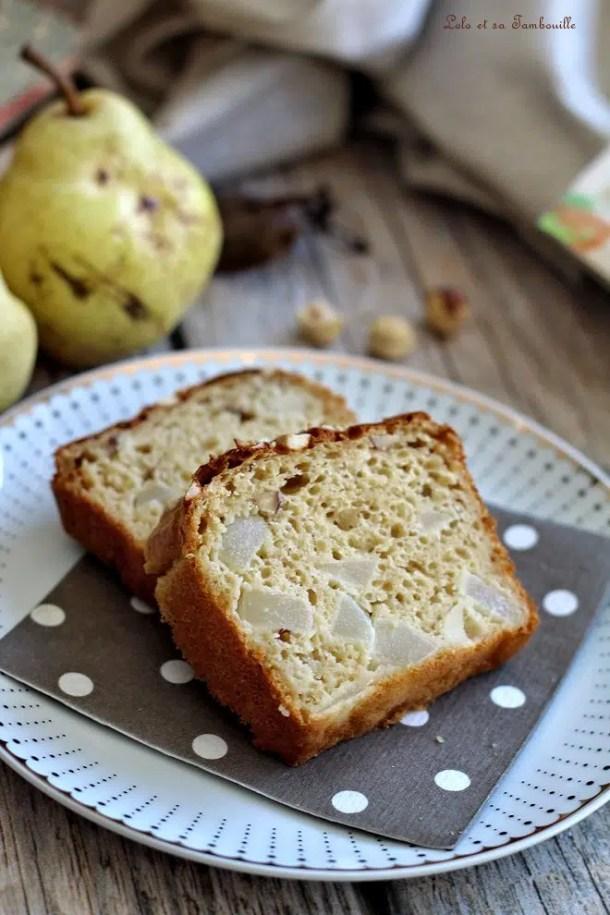 Cake aux poires & noisettes