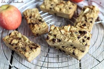 Cakes aux flocons d'avoine & pommes (2)
