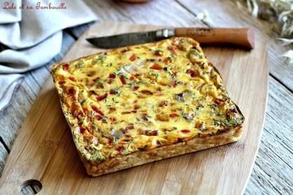 Quiche sans pâte poivrons & lardons (7)