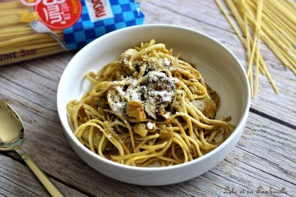 Spgaghettis au pesto & légumes (2)