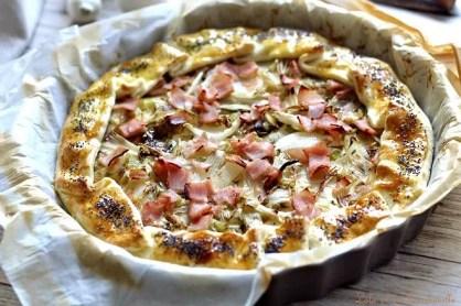 Tarte aux oignons doux, chèvre & bacon (4)