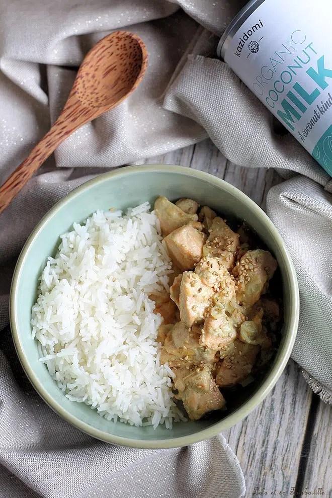 Curry de saumon au lait de coco