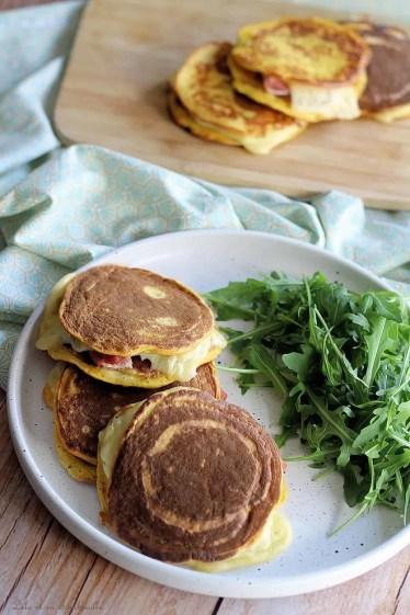 Pancakes à la butternut façon croque monsieur (6)