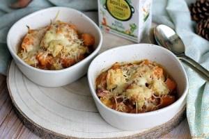 Gratiné patates douces poulet