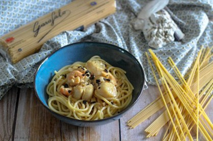 Spaghettones Saint Jacques & truffes (1)