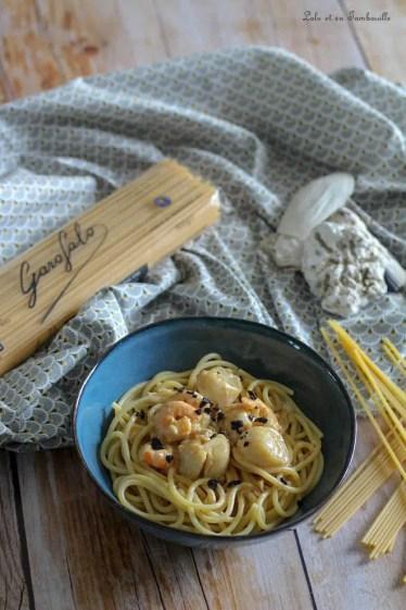 Spaghettones Saint Jacques & truffes (4)