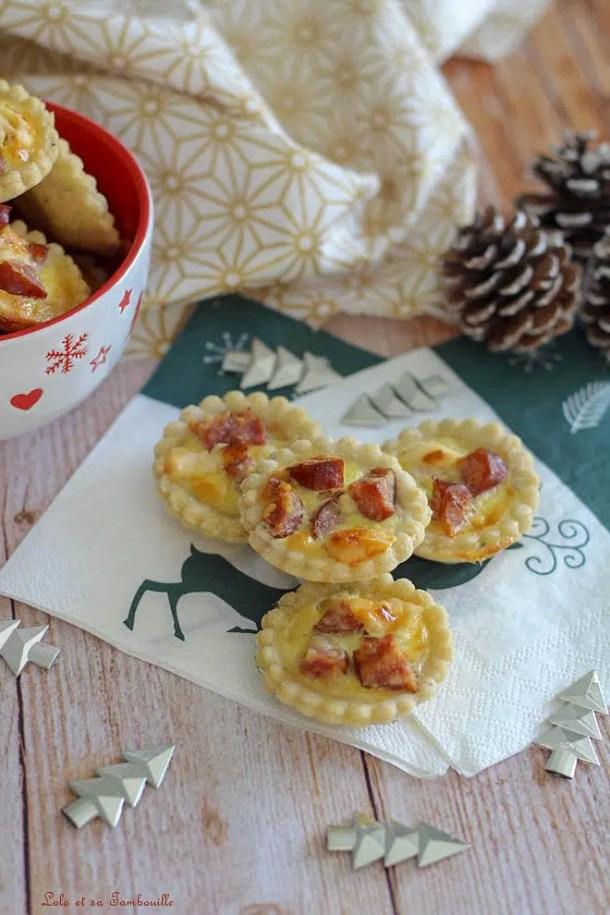 Tartelettes Montbéliard & parmesan