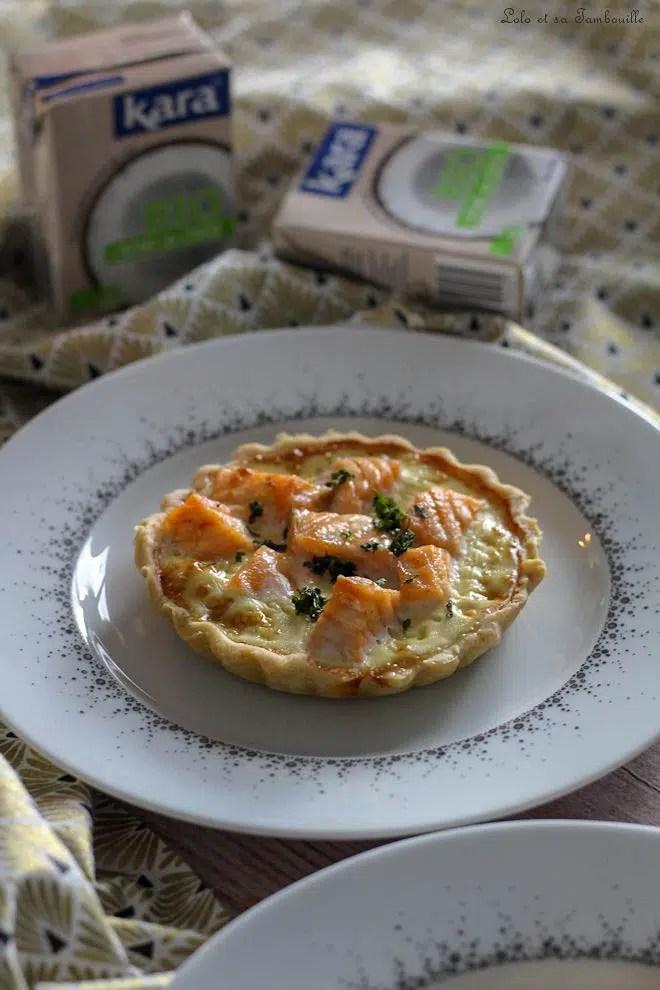 Tartelettes saumon crème coco