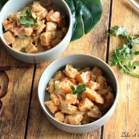 Curry de patates douces au lait de coco
