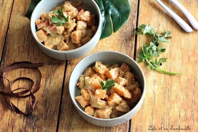 Curry de patates douces au lait de coco