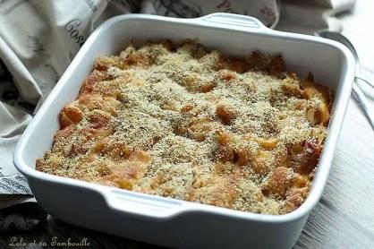 Gratin de macaronis jambon & cheddar (3)