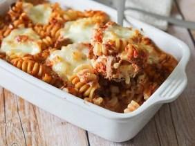 Gratin de pâte au thon & mozzarella (1)