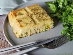 Quiche sans pâte au saumon & poireaux (1)