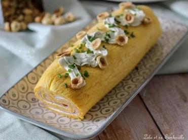 Roulé de butternut au fromage frais & jambon (5)