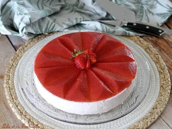 Entremets fraises pistaches