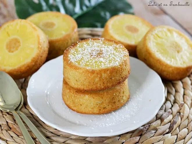 Gâteaux renversés ananas