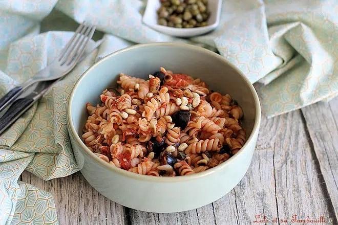 puttanesca recette,puttanesca pasta,pâtes à la puttanesca