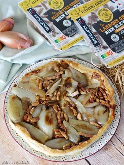 Tatin aux échalotes & lardons (2)