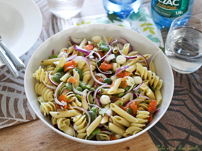 Salade pâtes fèves