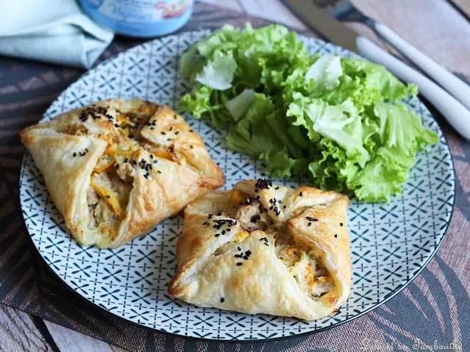 Feuilletés aux courgettes,feuilletés courgette thon,tarte feuilletée courgette thon,pâte feuilletée courgette thon sans oeuf