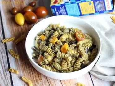 Pâtes aux aubergines & pesto (5)
