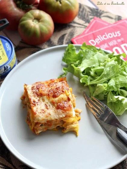 Lasagnes aux courgettes & thon (5)