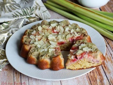 Gâteau renversé rhubarbe & fraises (6)