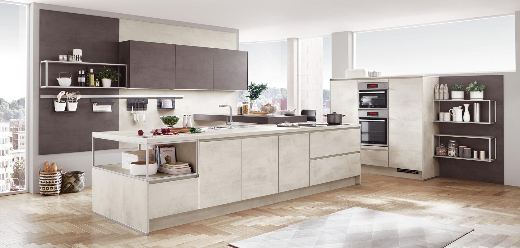 riva decor beton blanc cuisines elite