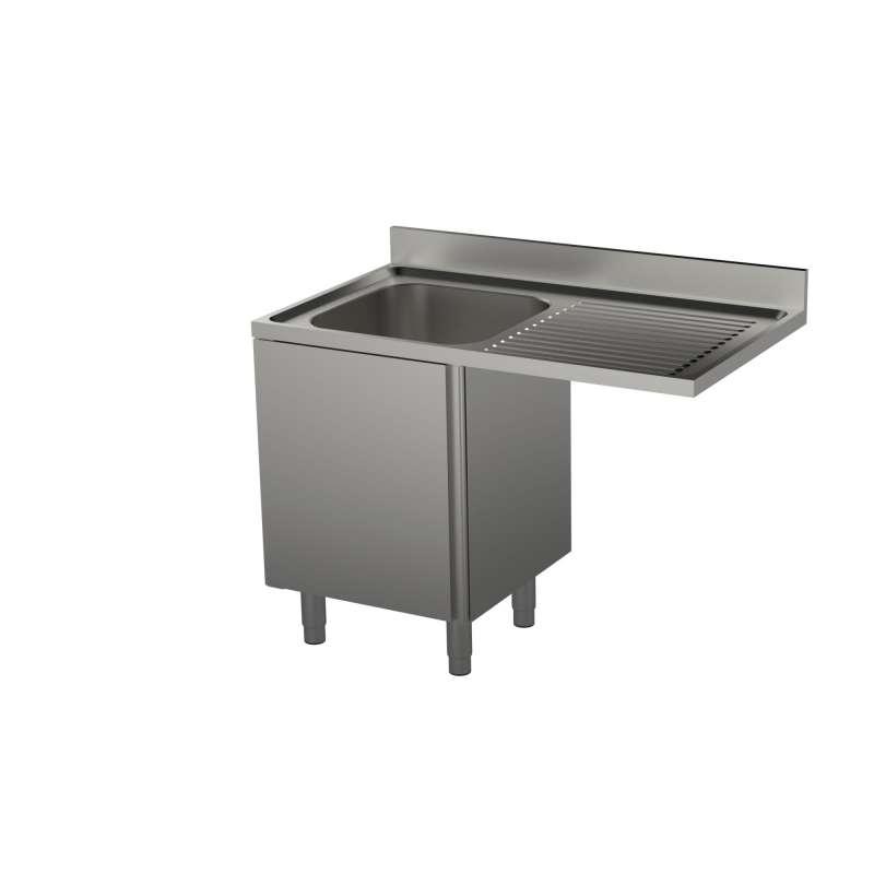 plonges meubles evier independants fermees avec emplacement pour recevoir un lave vaisselle sans etagere sans etagere l 120