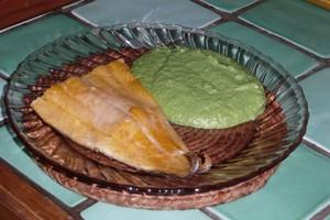 Green sauce pour poisson 2