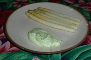 Sauce verte pour asperges blanches 2