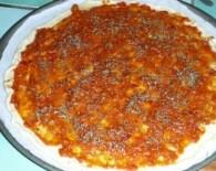 Pizza au jambon et au parmesan 2