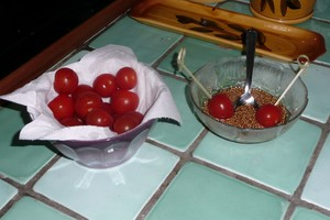 Tomates version sucrée salée pour l'apéritif