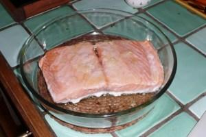 Filet de saumon à l'ail et au persil 1