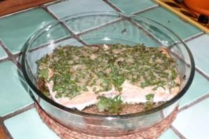 Filet de saumon à l'ail et au persil 2