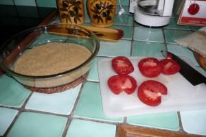 Gratin de tomates au Boursin 1