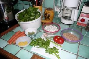 Soupe de petit épeautre au vert de blette 1