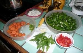 Soupe de petit épeautre au vert de blette 2