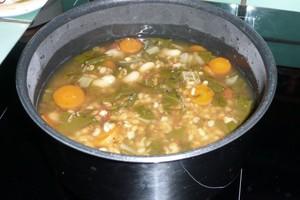 Soupe de petit épeautre au vert de blette 4