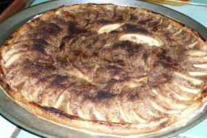 Tarte aux pommes et à la rhubarbe (4)