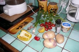 Salade tiède de pommes de terre au piment (1)