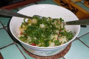 Salade tiède de pommes de terre au piment (3)