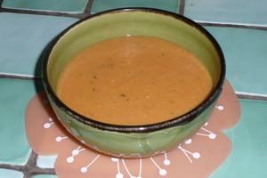 Soupe de lentilles corail à la tomate (2)